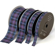 Pride of Scotland tartan ribbon perfect for wedding decorations and button holes. Our favourite blue and purple tartan - truly Scottish colours.