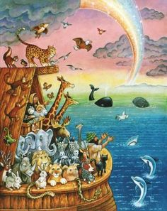 Noah And The Rainbow Mural - Bill Bell| Murals Your Way