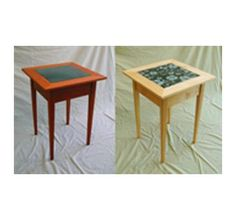 Shaker End Tables with Granite Inlay