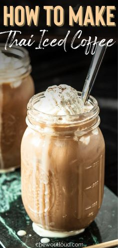 This 3-Ingredient Thai Iced Coffee is so simply delicious, right at home. This strong, creamy drink about to become your new favorite coffee beverage. It's eye-opening, jaw-dropping delicious. #thaiicedcoffee #icedcoffee #coffee Drinks Alcohol Recipes, Tea Recipes, Coffee Recipes, Yummy Drinks, Smoothie Recipes, Smoothies, Barista Recipe, Cappuccino Recipe, Chai Tea Recipe