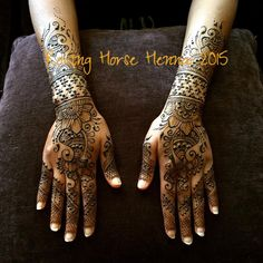 Simple bridal hands. Elegant and lovey. Such a joy when brides come to the home studio for their Mehendi! enna by Wendy Rover, Rovinghorse Henna http://www.rovinghorse.com
