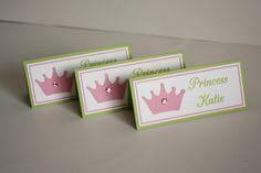 princess place cards