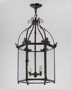 I put a spell on you: a black enamel hex lantern from the turn of the century.
