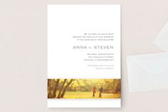 """""""Forever Panoramic"""" - Wedding Invitations in Mocha by Stacey Meacham."""