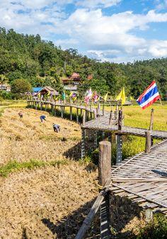 Sutongpe Bridge in Mae Hong Son, Thailand