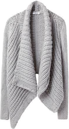 Helmut Lang grey shawl cardigan