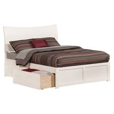 Atlantic Soho Full Flat Panel Foot Board With 2 Urban Bed Drawers
