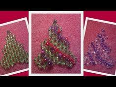 ▶ Beaded Christmas tree Christmas Ornament Beading tutorial by HoneyBeads (Photo tutorial) - YouTube