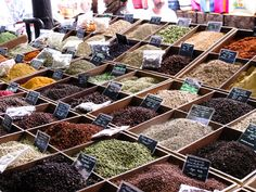 Spices on Market in Antibes, France