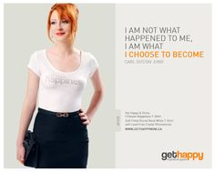 Choose for Yourself, Happy Ladies!    Inspirational T-Shirt  https://www.facebook.com/get.happy.shirts  http://gethappynow.ca/