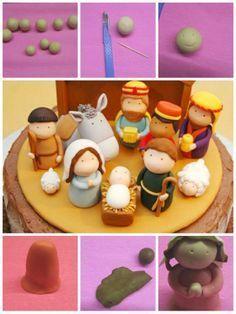 nativity cake topper tutorial - Google Search