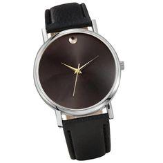 Genvivia Brand New 2017 Fashion watches Womens no number Retro Design Leather Band Analog Alloy Quartz dress watch Wrist Watch