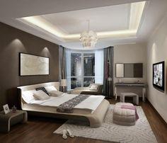 Una camera da letto moderna