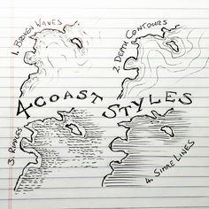 4 Coastal Styles for mapmaking