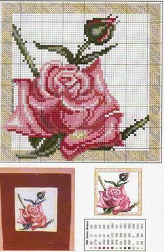 Ricami, lavori e centinaia di schemi a punto croce di tutti i tipi, gratis: Cross stitch free patterns- Raccolta di schemi a tema rose