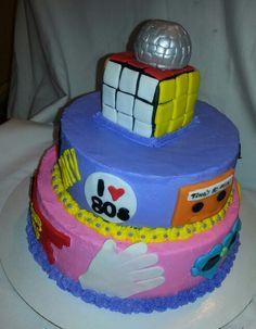 80's Theme Birthday Cake
