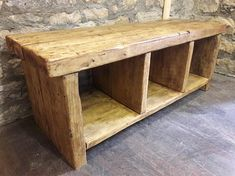 neues bad This Fabulous rustic hall seat has been made using reclaimed scaffold boards for the Wood Bookcase, Wood, Hallway Bench, Reclaimed Wood Shelves, Handmade Bedside Tables, Reclaimed Wood Benches, Storage, Rustic Storage, Rustic Reclaimed Wood