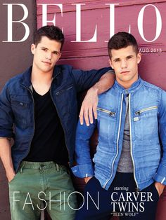 Love me the Carver twins from Teen Wolf - Max is on the left, and Charlie is on the right. :)