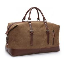 882987160e98 Canvas Leather Duffle Bag. Travel Bags Carry OnCanvas ...