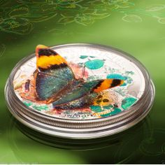Exotic Butterflies 3D   silver coin proof CAF 2014