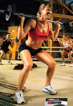 Body Pump. Tuesday and Thursday nights and Saturday mornings for me at Gold's. Lunges. Yuck.