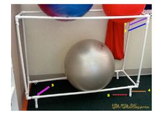 PVC Ball Rack:  Store excersize balls easily, without them rolling away. - FORMUFIT.com