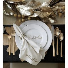 Thankful Salad Plate | Crate and Barrel