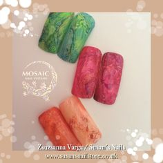 Stone effect with mosaic gel paints Salon Nails, How To Do Nails, Salons, Mosaic, Living Rooms, Mosaics, Mosaic Art, Lounges