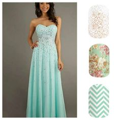#prom #nails #jamberry #blue #floral #spring2015