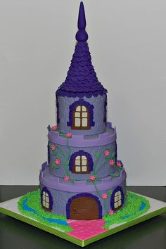 Princess Castle Birthday Cake. This would be cute as a craft with Hat boxes. The hat boxes could be time capsules full of things made by your kids or memorabilia.