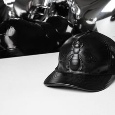 60f933615a08 VALENTINES WISHLIST   gucci has us head over heels with this leather bee  embossed cap