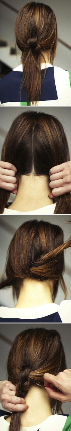 Knotted Ponytail Hairstyle