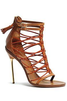Emilio Pucci Leather Multi-Strap Sandals