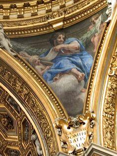 Pennacchio della Cupola di Santa Maria in Vallicella.  Profeta. 1659-60