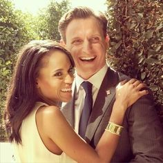 Tony Goldwyn and Kerry Washington all smiles