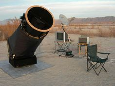 A WEBSTER brand Dobsonian scope with a very functional setup for desert viewing. - #Dobsonian #Telescopes
