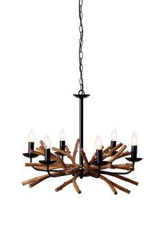 Mio lampa med trä