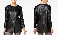 Alfani PRIMA Faux-Leather Blazer, Only at Macy's