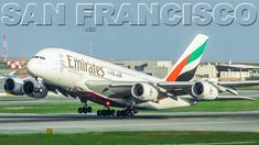EMIRATES Airbus A380s at San Francisco