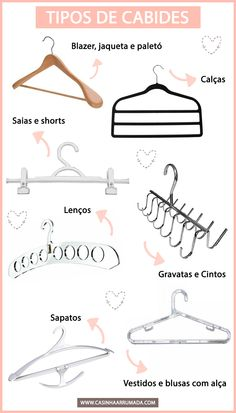 E o cabide certo para cada tipo de roupa! Konmari, Home Design Decor, Diy Home Decor, Ideas Para Organizar, Vide Dressing, Personal Organizer, Home Hacks, Closet Organization, Room Decor Bedroom