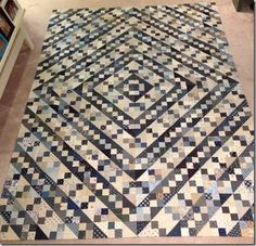 Blue Ridge Beauty is found in Adventures with Leaders & Enders by Bonnie Hunter. This version by Wilma nooij from the Netherlands. http://quiltville.blogspot.com/2013/09/sunday-show-share.html