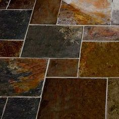 Multicolour Slate Random Tiles Country Farmhouse Multicolour Slate Tiles 1 Sq Metre (Mixed Sizes) Tiles