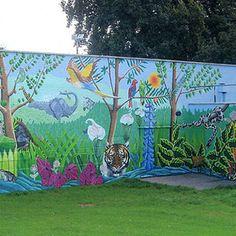 8 En Iyi Park Bahçe Yaşam Alanı Duvar Resmi Boyama