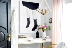 High/low: Flirty and functional workstation | Style at Home