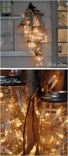 diy mason jar ideas tutorials for holiday styletic - Mason Jar Christmas Lights