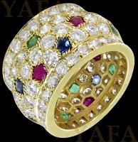 CARTIER Diamond, Sapphire,Ruby and Emerald Nigeria Ring