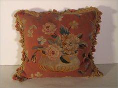 Peach Aubusson Pillow $720.00