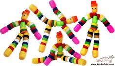 Muñecas con tapones plásticos #recicla