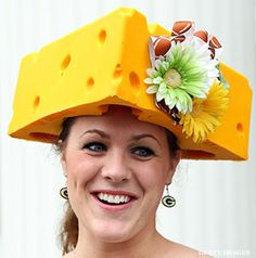 Cheese head hat.