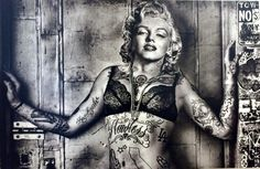 Marilyn Monroe Drawing, Marilyn Monroe Wallpaper, Marilyn Monroe Tattoo, Marylin Monroe, Audrey Hepburn Tattoo, Urban Icon, Black And White Comics, Tattoo Lettering Fonts, Hip Hop Art